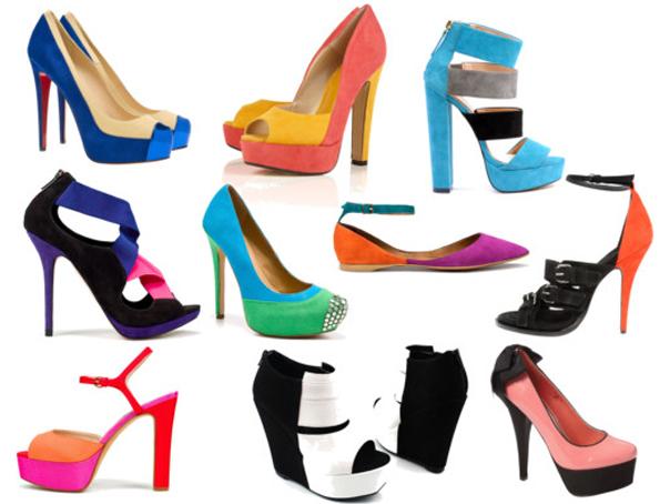 Sapatos Color Blocking