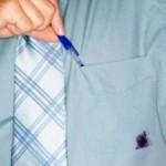 Tinta de caneta em roupa