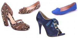 Sapatos cores diversas e estampa de oncinha