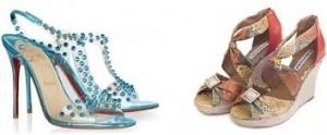 Sandálias com Aplicações em Plástico e Tecido