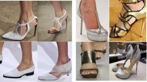 Sapatos Brancos e Metalizados
