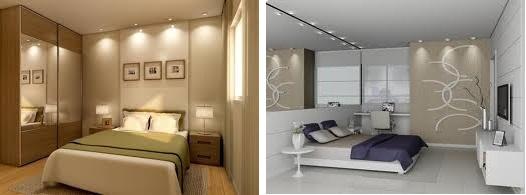 Decoração do Quarto de casal - Espelhos e Iluminação