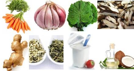 Alimentos no combate a gripe